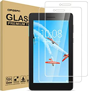 (2 Pack) Orzero Tempered Glass Screen Protector Compatible for Lenovo Tab E7, 2.5D Arc Edges 9 Hardness HD Clear Durable Cover Anti-Scratch Bubble-Free High-Definition (Lifetime Replacement)