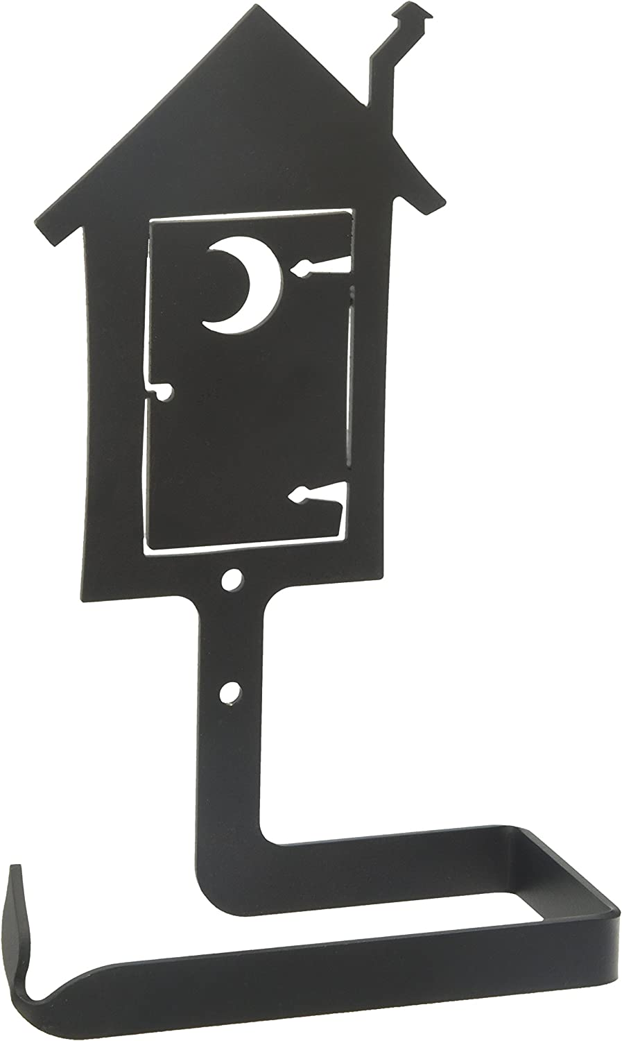 Wrought Iron Roller Style Toilet Tissue Paper Holder Outhouse Bathroom Decor
