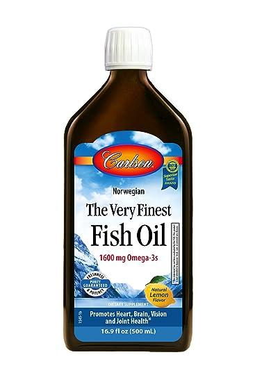 Amazon.com: Carlson The Very Finest Fish Oil Liquid Omega-3 Lemon ...