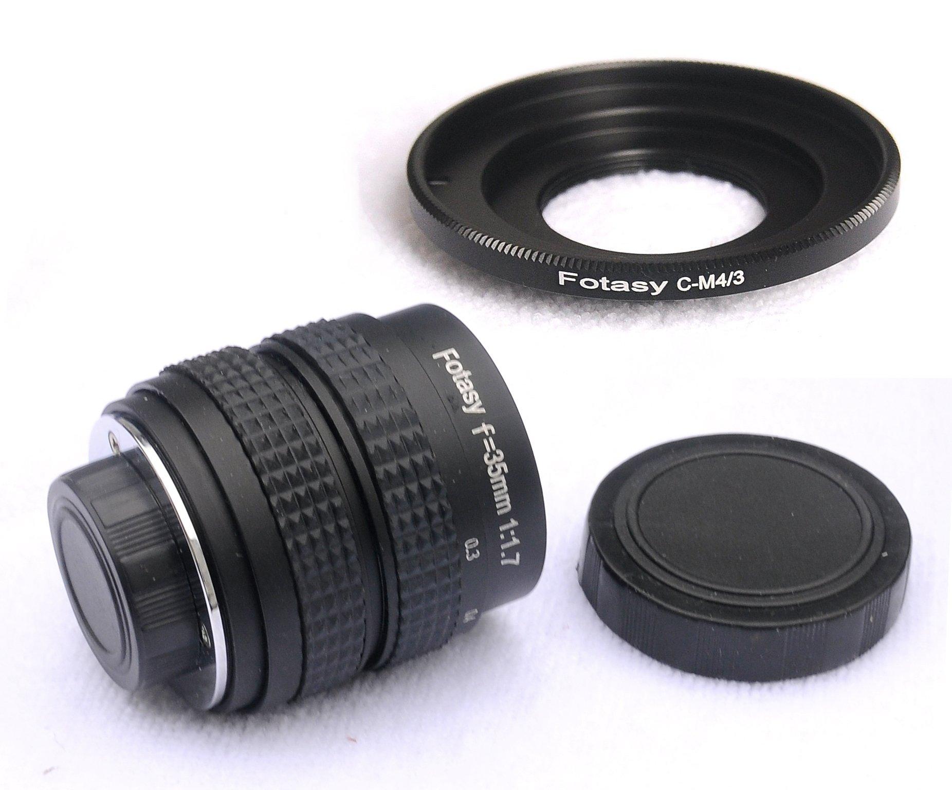 Fotasy 35mm f1.7 Lens for M43 MFT Micro 4/3 Mirrorless Cameras, fits Olympus E-PL7 E-PL8 OM-D E-M1 I II E-M1X E-M5 I II III E-PM2 E-PM1/Panasonic G7 G9 GF6 GF7 GF8 GH5 GM5 GX7 GX8 GX9 GX85 GX80 GX85 by Fotasy