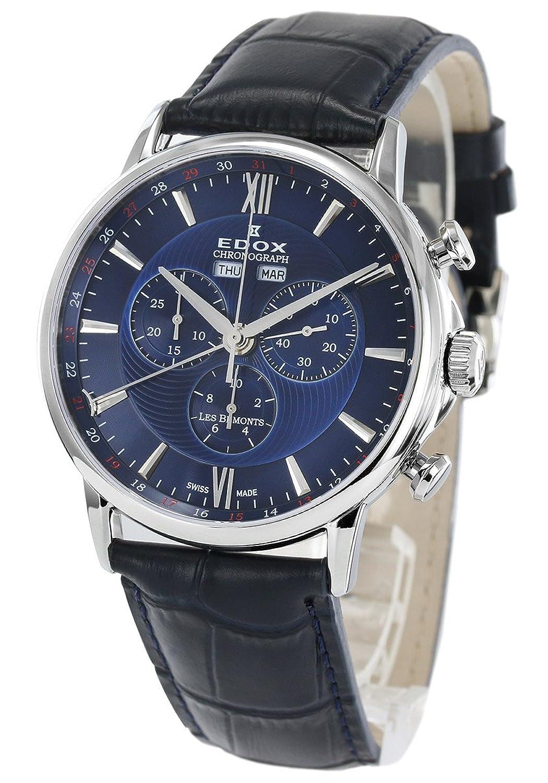 エドックス レベモン クロノグラフ 腕時計 メンズ EDOX 10501-3-BUIN[並行輸入品] B075FRXMVJ