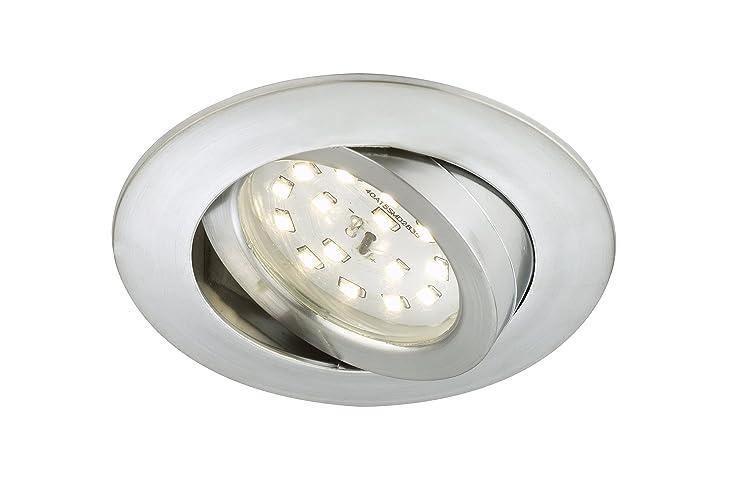 Briloner Leuchten LED Einbauleuchte, Dimmbar, Einbaustrahler, LED Strahler,  Spots, Deckenstrahler,
