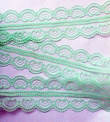 20 Yards Embroidered Lace Trim Gift Wrap Wedding Invitation Cards Lace Ribbon 2inch 5cm Wide Diy Craft Lace Trimming Supply Mint Green
