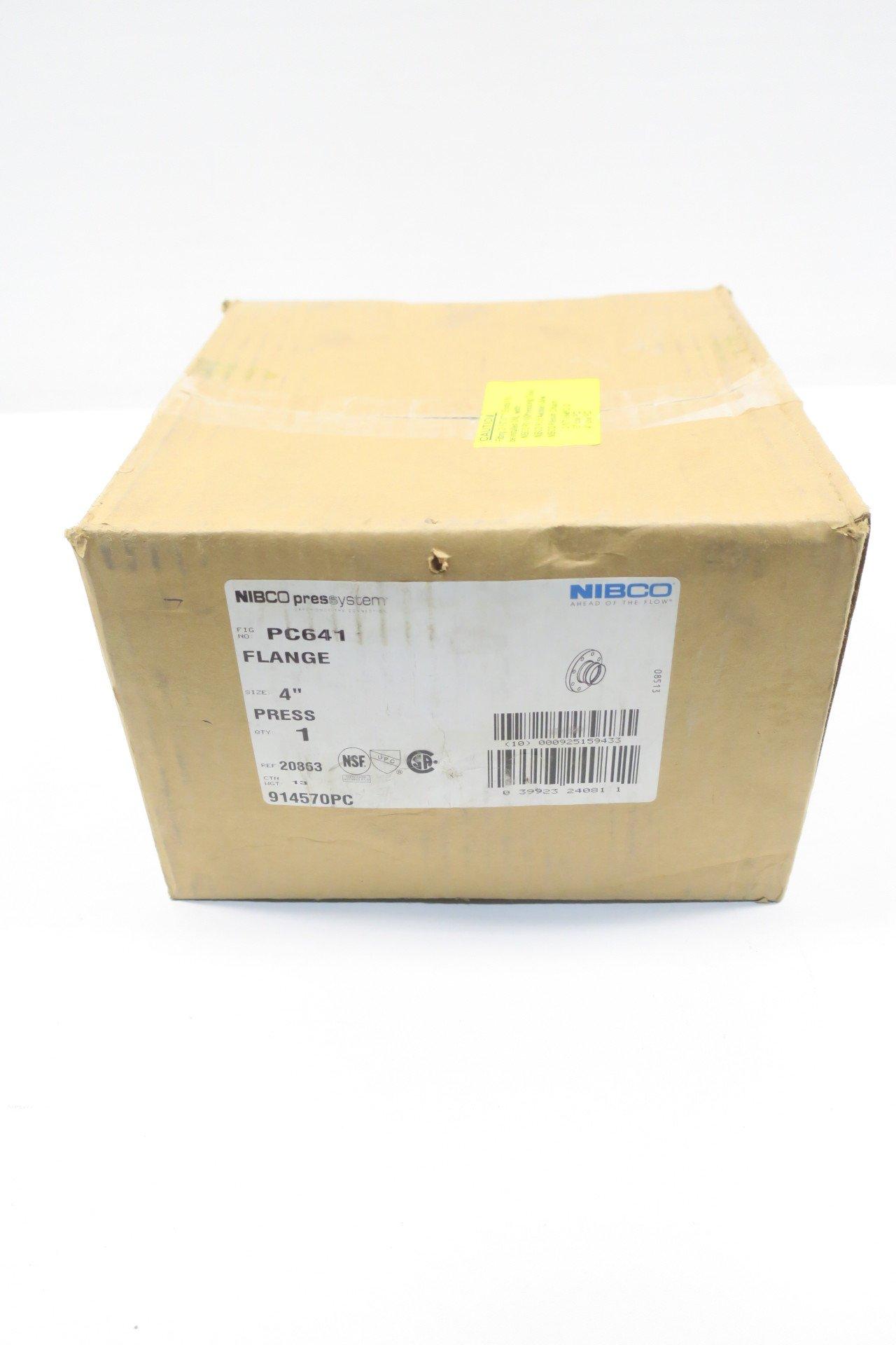 NEW NIBCO 914570PC PC641 PRESSYSTEM 4IN PRESS COPPER COMPANION FLANGE D587771