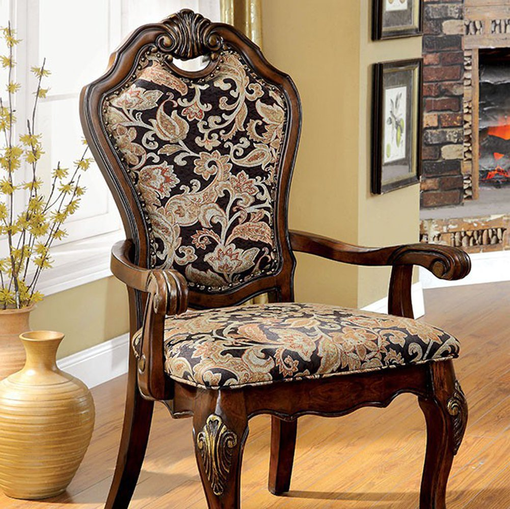 Furniture of America CM3243AC-2PK Vicente Arm Chair Set of 2 Dining