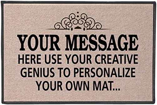 WHAT ON EARTH Your Message Here – Create Your Own Personalized Custom Doormat – Indoor Outdoor Olefin Welcome Mat