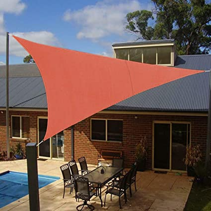 Amazon.com: Belle dura brick-red toldo solar 16 x16 x16 ...