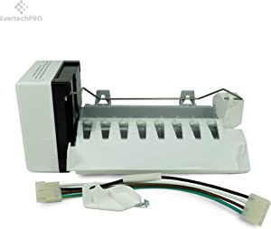 EvertechPRO Refrigerator Icemaker Replacement for Whirlpool 2198597 W10122502 626663 1016069 2198678