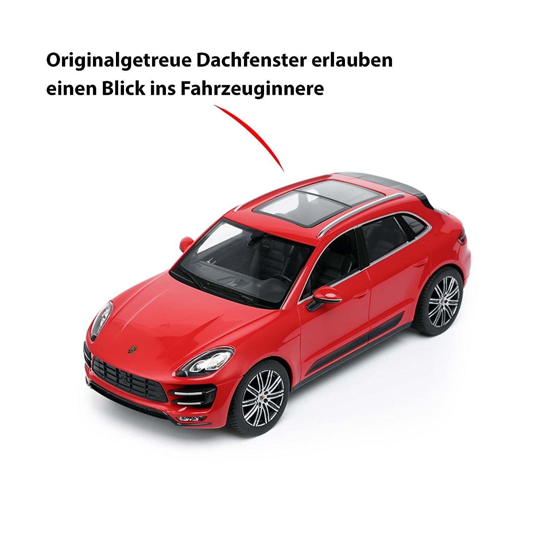 Original Porsche Macan Turbo, licencia de Auto, RC, con licencia, modelo de coche teledirigido (Escala 1: 14, de Ready to de Drive, Auto, incluye control ...
