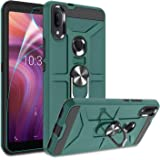 Alcatel 3V 2019/5032W Case with HD Screen Protector,(Not Fit Alcatel 3V 2018) Atump 360° Rotation Ring Holder Kickstand PC+ T
