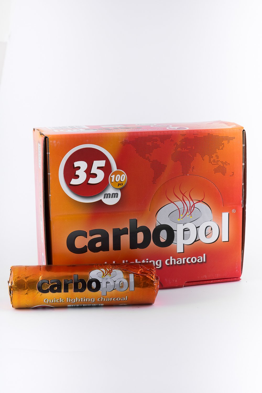100 Pcs Carbopol 35mm Quick Light Hookah Charcoal coals Quicklight Hookah & Shisha Charcoals Carbopol Lukasz Grzyb