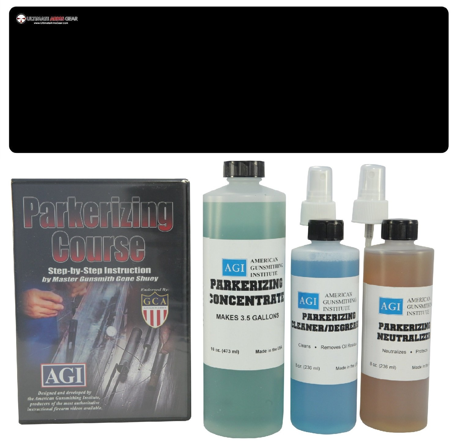 Amazon American Gunsmithing Institute Parkerizing Kit With Concentrate Cleaner Degreaser Neutralizer Step By DVD Ultimate Arms Gear