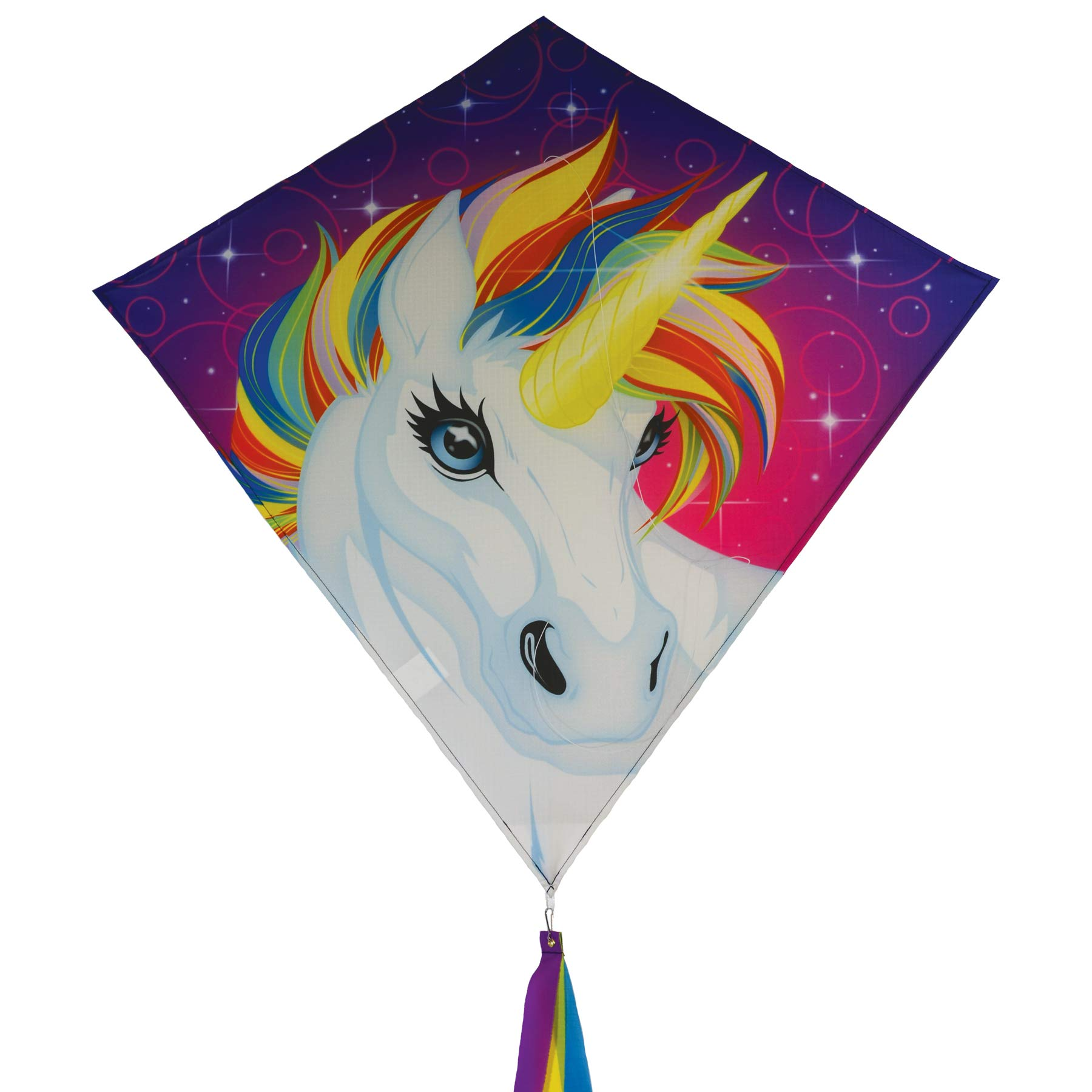 In the Breeze 3259 - 30'' Diamond Kite - Fun, Easy Flying Unicorn Kite by In the Breeze