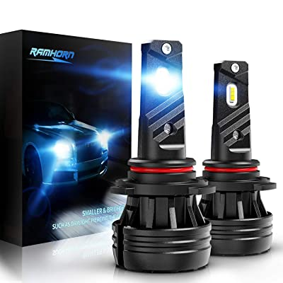 RAMHORN 9006 LED Headlight Bulbs,360 Degree Adjustable Beam 10000Lm 6500K Cool White CREE Chips HB4 Conversion Kit of 2: Automotive [5Bkhe0812838]