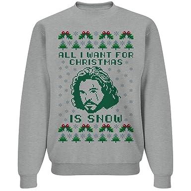 jon snow christmas ugly sweater unisex gildan crewneck sweatshirt