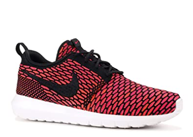 on sale efa4b 5d985 Nike Men s Flyknit Rosherun, BLACK WHITE-FIREBERRY-TTL ORANGE, ...