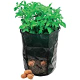 "Amgate Garden Potato Grow Bag Vegetables Planter with Access Flap for Harvesting ~ Eco-friendly Waterproof Pe ~ 14"" Diameter X 18"" Height (1)"