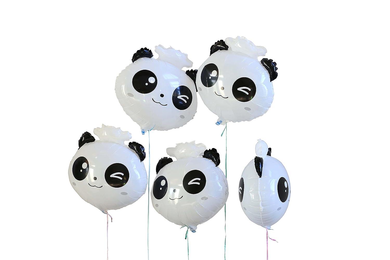 Pack of 5 Panda Head 18 Foil Mylar Helium Balloon SummitLink