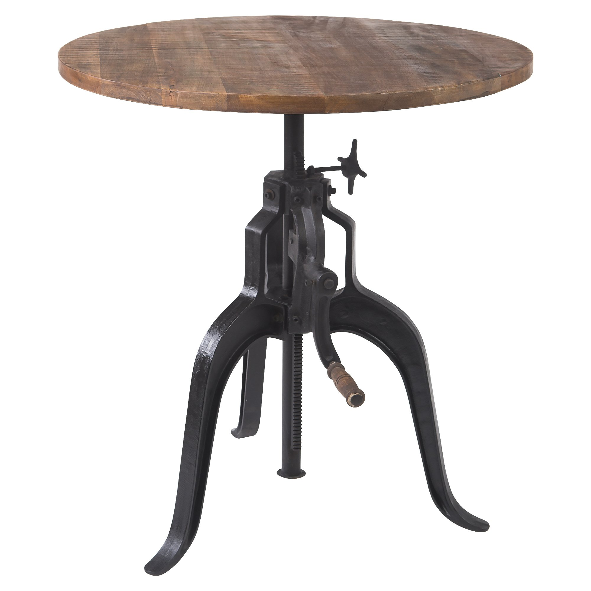 Yosemite Home Decor Crank Table, Brown by Yosemite Home Decor
