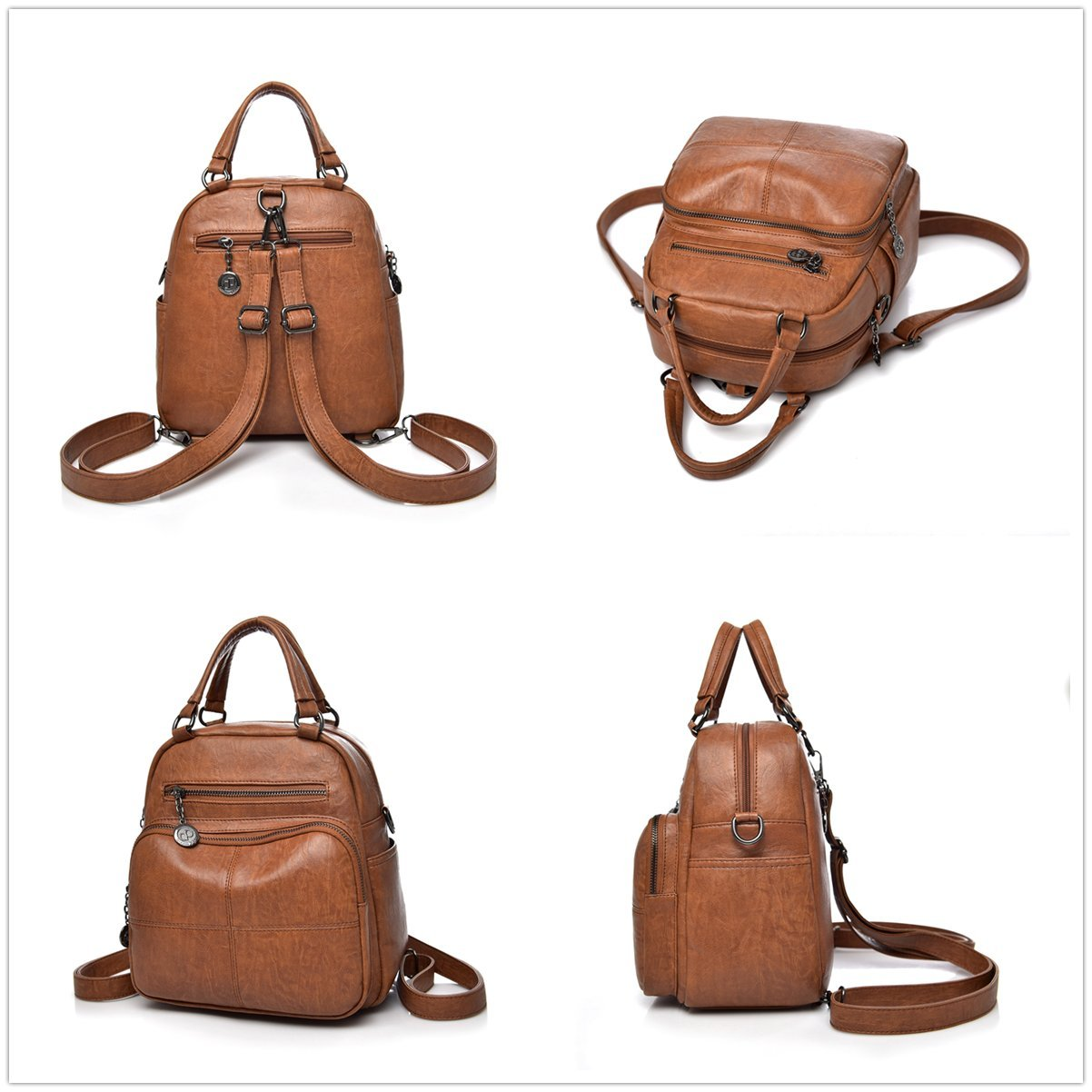 Amazon.com  Alovhad Leather Backpack Purse Fashion Shoulder Bags Handbags  For Women School College  Alovhad Store a89ee75136