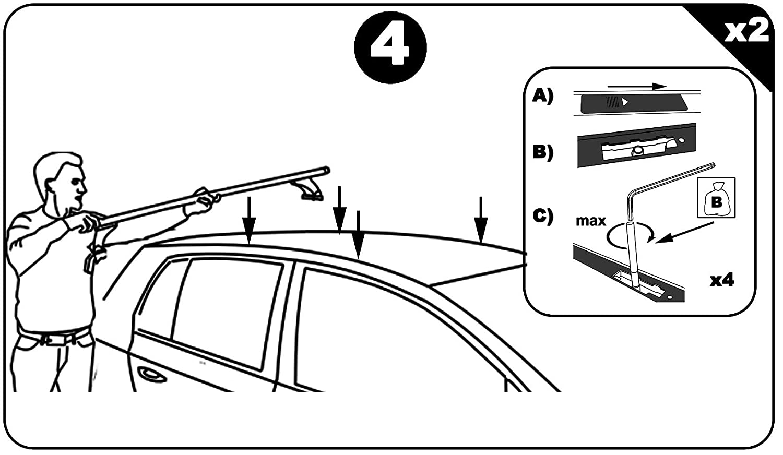Schr/ägheck 3-5T/ürer Stahl Dachtr/äger Aurilis Original f/ür Hyundai i30 II Dachbox VDPMAA320 320Ltr abschlie/ßbar schwarz matt 2012-2017