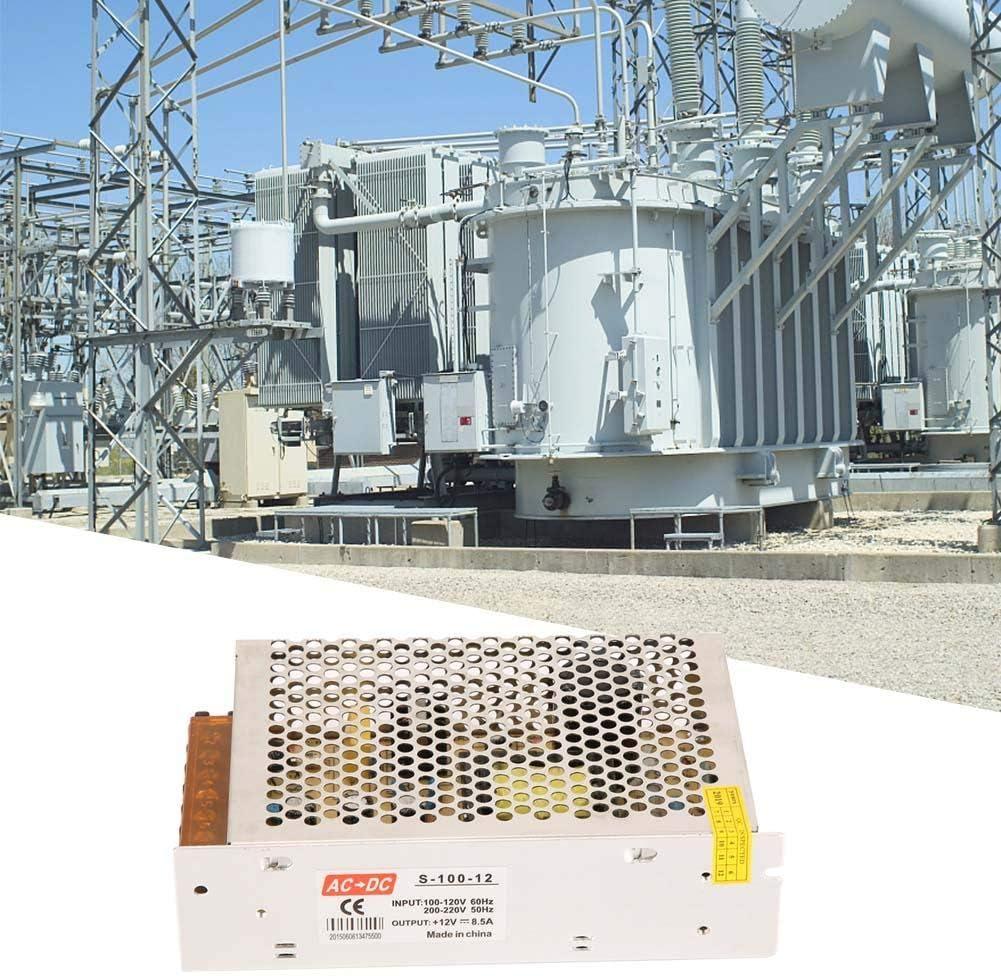 Convertisseur dAlimentation /à D/écoupage Walfront AC110V-220V /à DC12V 5A // 8.5A // 10A Moniteur de La Carte dAlimentation CC en option 12V 5A 60W