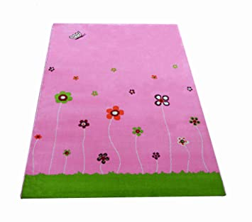 Little Helper 3D Childrens Play Rug in Summer Garden Design Design