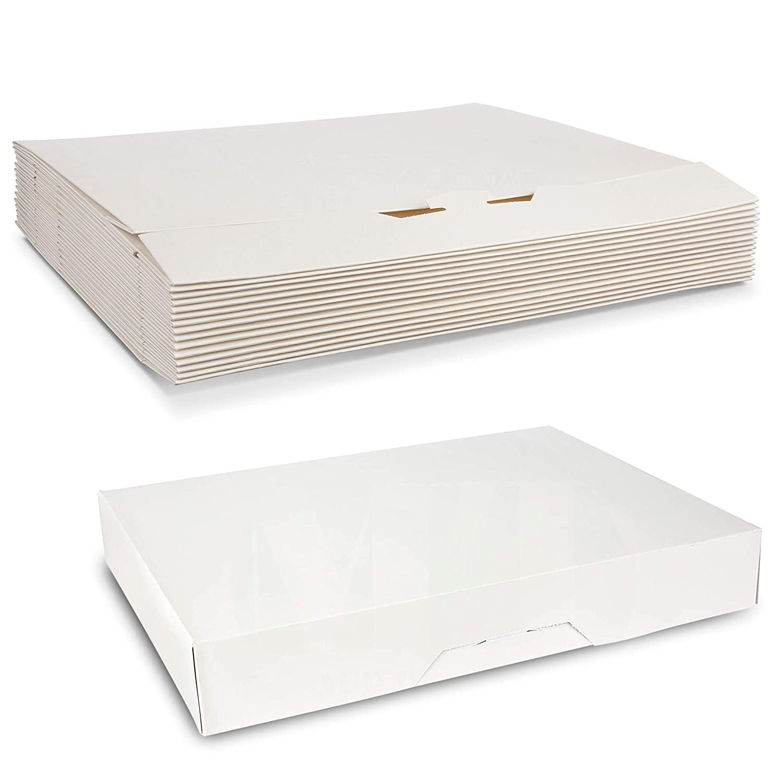 White Sturdy Kraft Paperboard Auto-Popup 1-Piece Donut Bakery Box 12