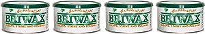 Briwax Darkbrown Brown Dark Furniture Wax, Cleans, Stains, and Polishes (Fоur Paсk)