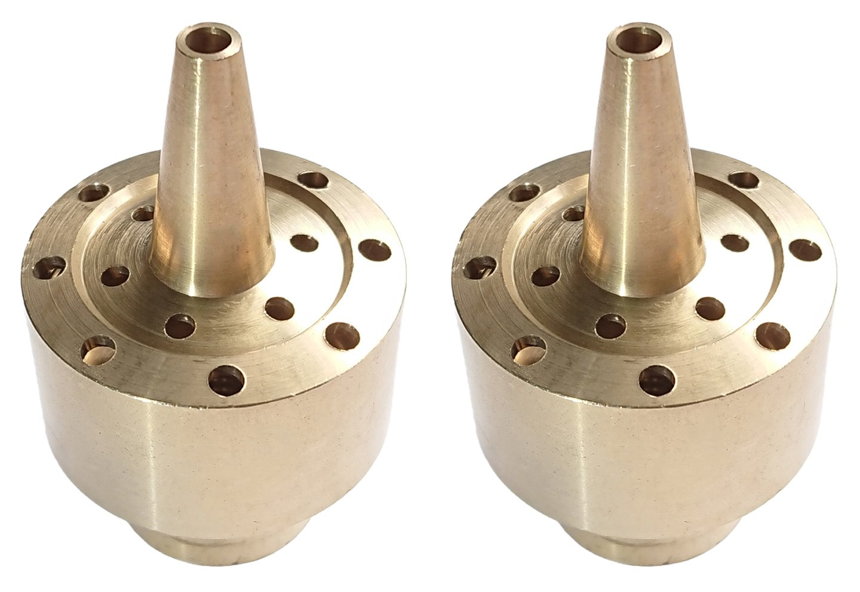Actopus 2PCS 1/2 Inch DN15 Fountain Nozzle Heads Brass Column Pond Spray Sprinkler