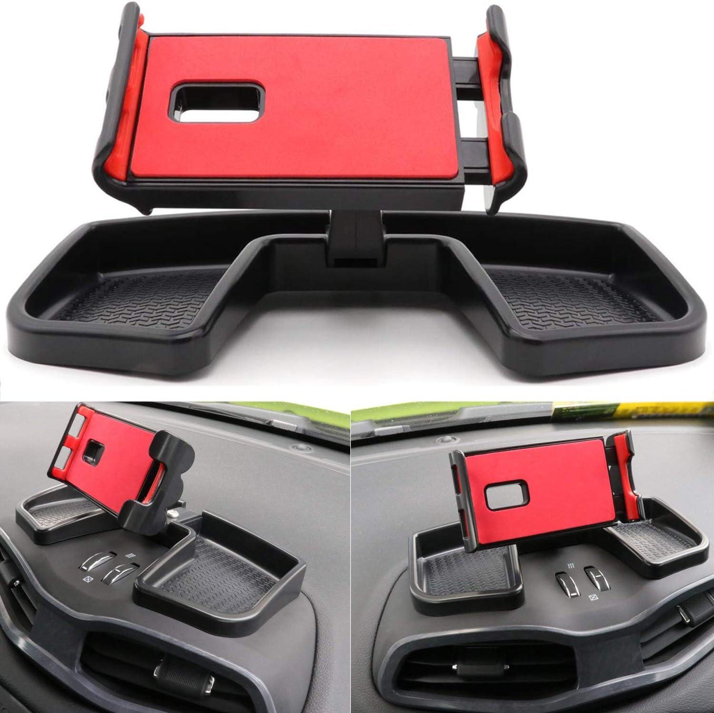 Jeep Renegade iPad soporte, yoursme ABS coche Dash Teléfono 360 Degree rotación con almacenamiento caja iPad GPS Soporte Auto Funda para soporte Kit ...