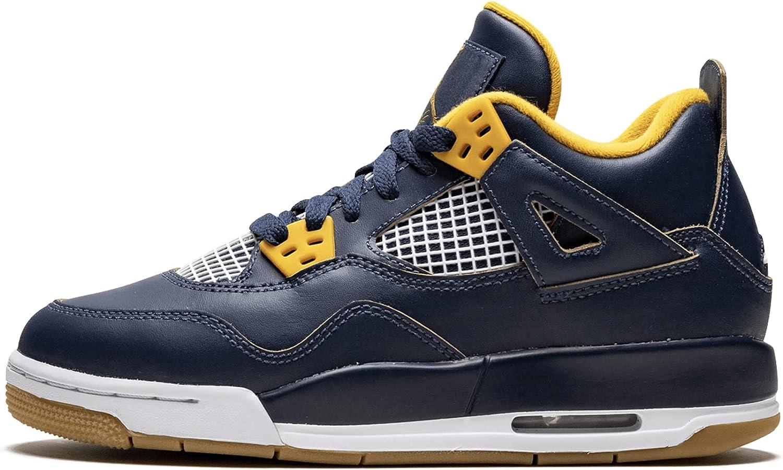 Jordan Air 4 Retro BG Big Kid's Shoes Midnight Navy/Metallic Gold/Gold Leaf/White 408452-425