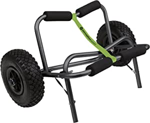 Perception Kayaks Large Kayak Cart with Foam Wheels - for use on sand/pavement, Black