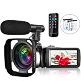 Video Camera Camcorder Vlogging Camera for Youtube Full HD 2.7K 30FPS 30 MP IR Night Vision 3 Inch Touch Screen Time…