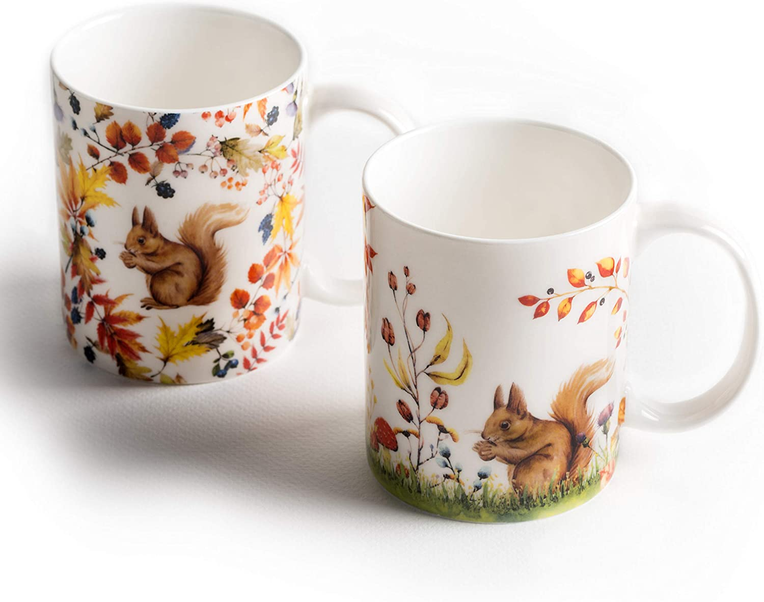 Maison d' Hermine Sous-Bois Pack Of Two Coffee Mugs 12 Ounce