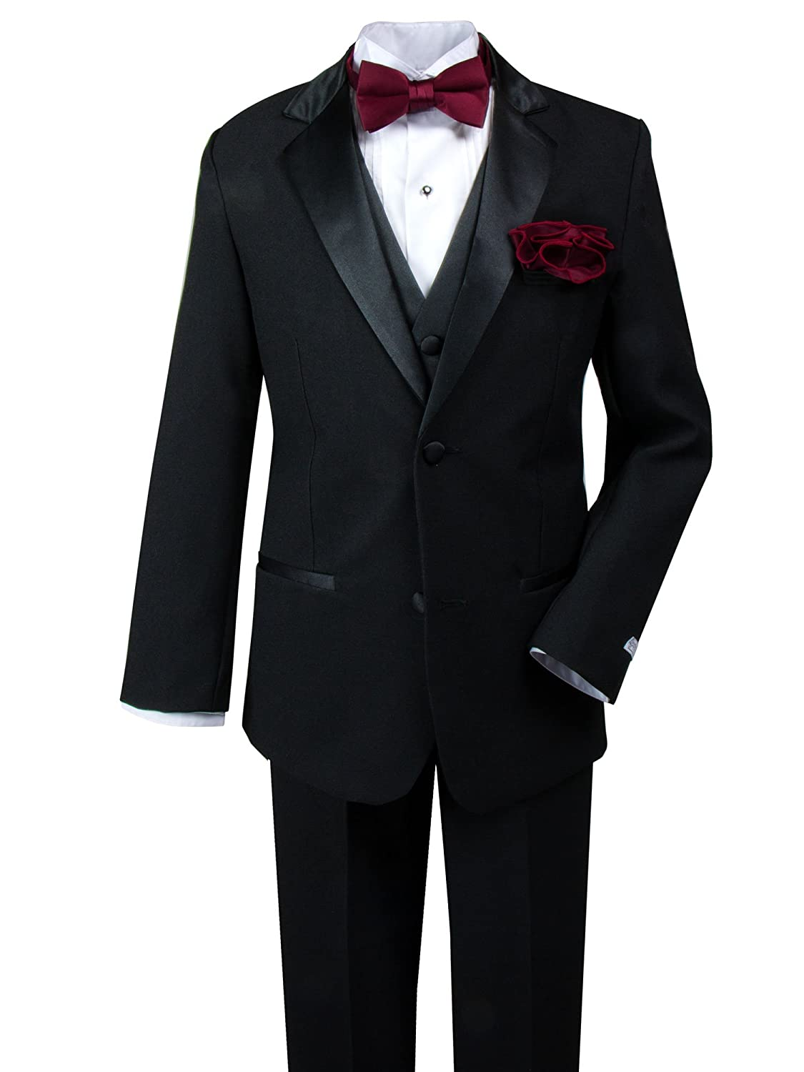 Spring Notion Baby Boys' Tuxedo Set with Bow Tie and Handkerchief ERF012-SNB-012-BH