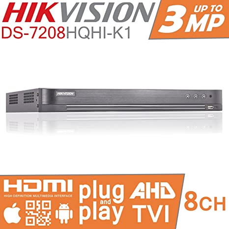 Hikvision Turbo HD DVR 8 ch canal grabador de vídeo digital de CCTV TVI ds-