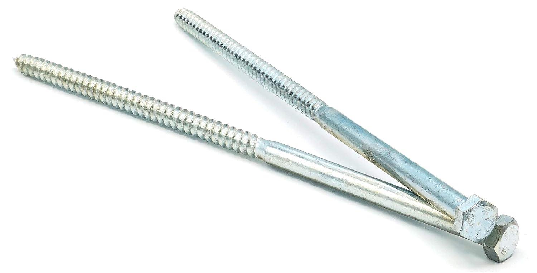 5//8 x 2 Qty 25 Hex Lag Screws Zinc Plated Steel