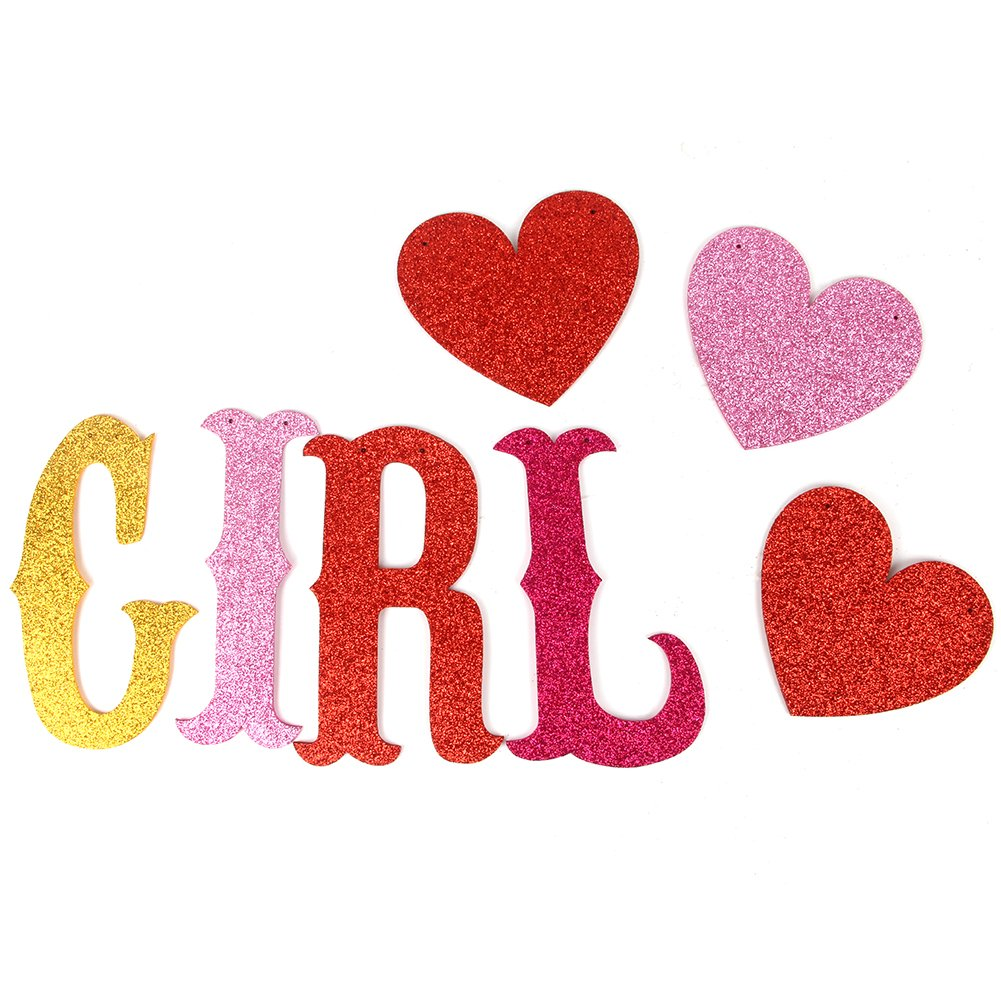 Girl Banner Baby Shower Party Banner Gender Reveal Bunting Its a Girl Banner Colorful Karoo Jan