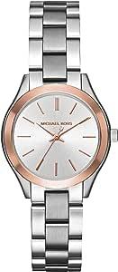 Michael Kors Mini Slim Runway Women's Silver Dial Stainless Steel Watch - MK3514