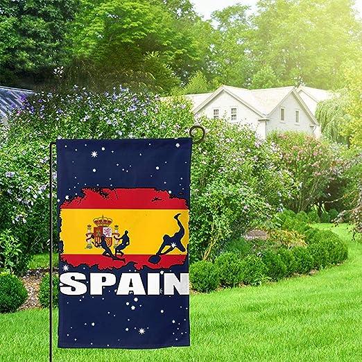 NA España Bandera Fútbol Rugby Jardín Bandera Divertido Jardín ...