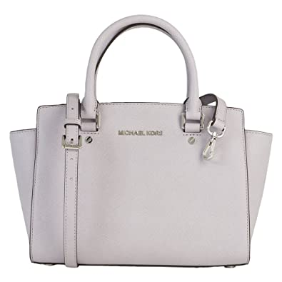 5251ae0491 Amazon.com  MICHAEL Michael Kors Womens Selma Leather Satchel Handbag  Purple Medium  Shoes