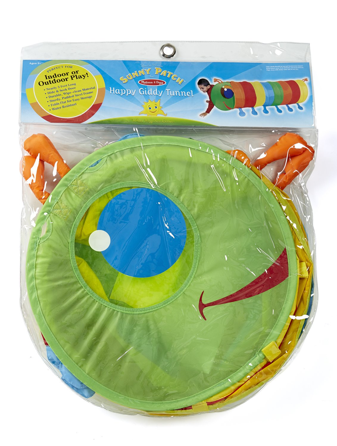 Melissa & Doug Sunny Patch Happy Giddy Crawl-Through Tunnel