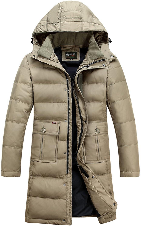 Jinmen Mens Winter Thicken Warm Hooded Down Coat Jacket Outwear Long Parka