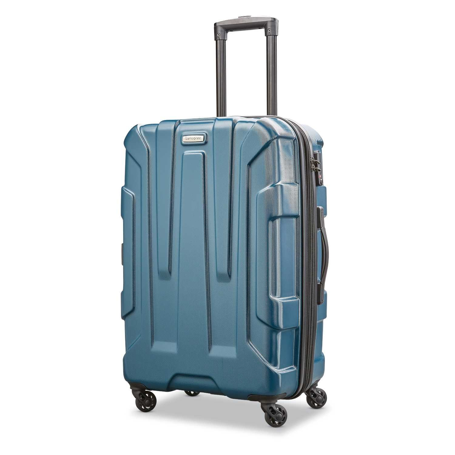 Samsonite Centric Expandable Hardside Checked Luggage with Spinner Wheels, 24 Inch, Teal