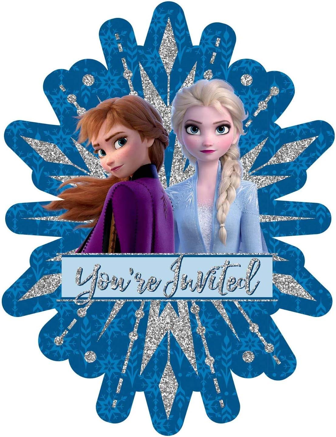 Amazon.com: Invitaciones y agradecimiento de Frozen: 8 ...