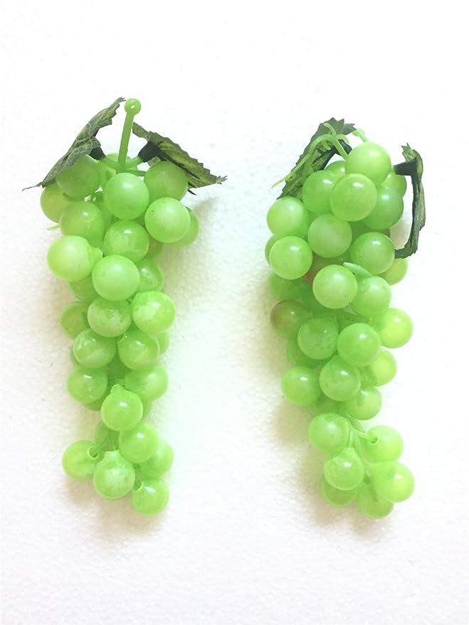 Green High Quality Artificial Grapes Decorative Plastic Fake Fruit