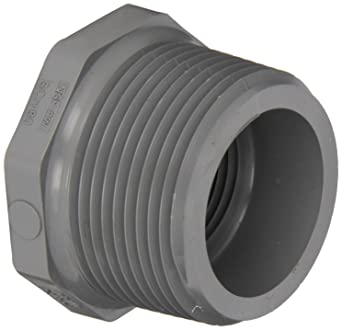 Schedule 80 Spears 839-C Series CPVC Pipe Fitting Bushing 1 NPT Male x 3//4 NPT Female 1 NPT Male x 3//4 NPT Female Spears Manufacturing 839-131C