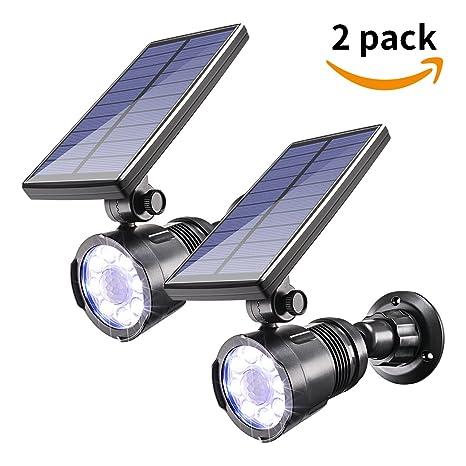Luz Solar con Sensor de Movimiento para Exteriores Sunix, Focos LED Brillantes de 800 lúmenes