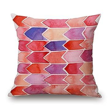 Amazon.com: Funda de almohada de la serie rosa con estampado ...